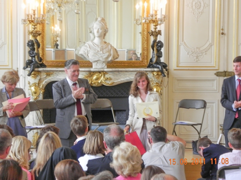 Raphaëlle du Chalard, Lauréate du concours de la Fondation pour l'ecole