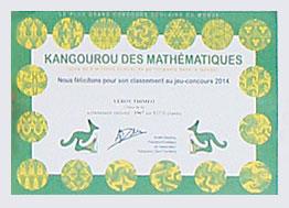 Concours de mathématiques annuel : Kangourou